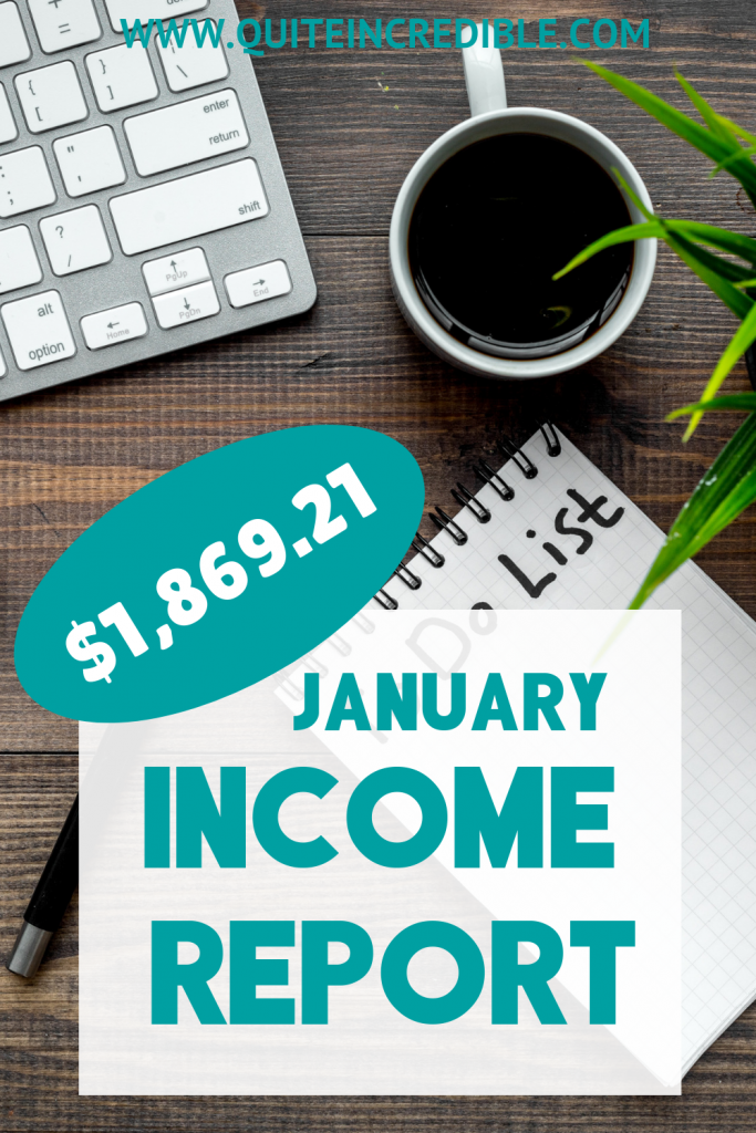 December 2018 & January 2019 Blogging Income Report - Find out how I earned $2,691.44 from blogging in my spare time! Blogging really can be a GREAT side income... or even full-time income!